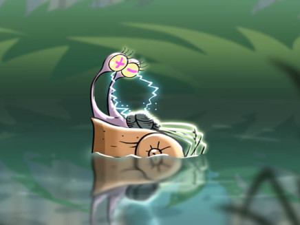 улитка плавает