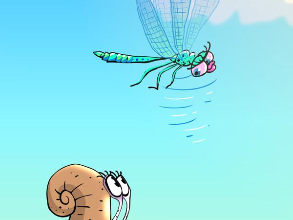 стрекоза летит